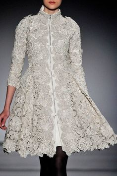 Lace coat-dress by Christophe Josse