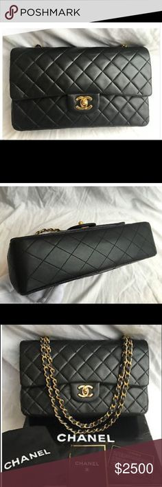 Classic Chanel Purse Beautiful black Chanel purse in excellent condition ! Chanel Bags Clutches & Wristlets