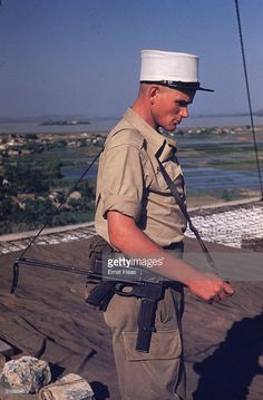 A soldier of the French Foreign Legion stands guard in the former Indochina.