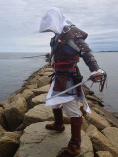 NEW Assassins Creed Black Flag Edward Kenway Cosplay Genuine Leather Costume on Etsy, $500.00