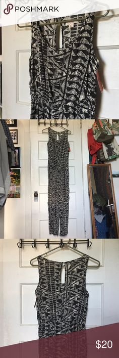 Mission Jumpsuit Hematite Print Loose fit, comfortable, green print jumpsuit. Never worn, NWT. Mossimo Supply Co. Other