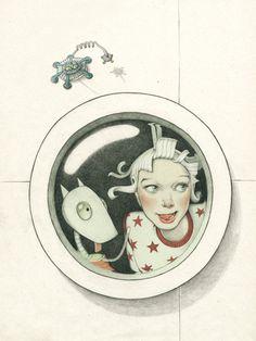 Denise Van Leeuwen. Cute illustration for a children's book - Planet Adventures / Edible Planet