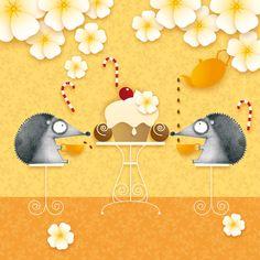 Hedgehogs Tea Party