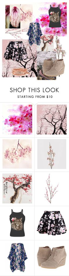 """""""Visiting the Cherry Blossoms"""" by erinn-hutchins ❤ liked on Polyvore featuring Coach House, Pier 1 Imports, WithChic, TOMS and Jessica Simpson"""