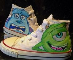 Monsters Inc Custom Converse by @asaelmalik