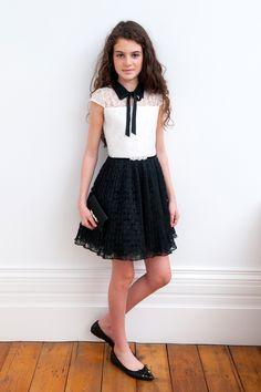 Monochrome Lace Formal Dress