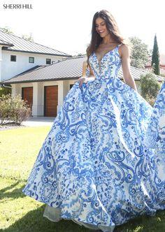 Prom Dresses Utah Print Prom Dress Ballgown Dress  Ypsilon Dresses Sherri Hill Gowns
