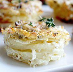 Parmesan Scalloped Potato Stacks