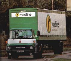 Roadline Haulage Logo - this always seemed to feature in the Blue Peter appeals Vintage Vans, Vintage Trucks, Old Trucks, Pickup Trucks, Bedford Van, Bedford Truck, Classic Trucks, Classic Cars, Vauxhall Motors