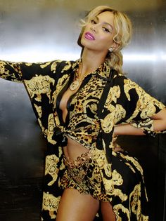 Beyonce Fashion 2014 | beyonce wearing head to toe versace in an elevator photo beyonce s ...