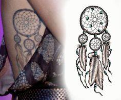 Dreamcatcher Tattoo Design On Side