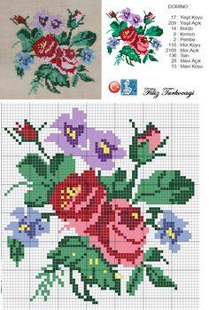 Bir önceki yastık deseninin orta motifidir...Keten kumaş üzerine işlendiğini belirtmek isterim...Annelerimizin elleri dert görmesin... Cross Stitch Pillow, Cross Stitch Rose, Cross Stitch Borders, Cross Stitch Flowers, Cross Stitch Designs, Cross Stitching, Cross Stitch Embroidery, Hand Embroidery, Cross Stitch Patterns