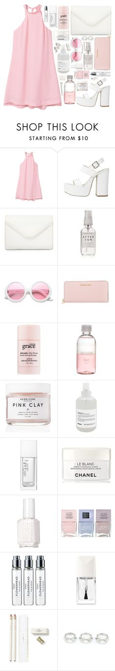 """""""Outfit 189"""" by holass ❤ liked on Polyvore featuring MANGO, Neiman Marcus, Herbivore, ZeroUV, MICHAEL Michael Kors, philosophy, Lord & Berry, Davines, NARS Cosmetics and Chanel"""