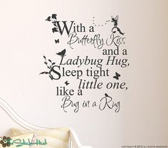 Fairy Tale With a Butterfly Kiss Sticky Vinyl Wall Accent-$23.00