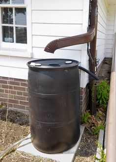 Rainwater Collection System. Crude but effective.