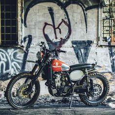 Husqvarna 510 Scrambler - Analog motorcycles #motorcycles #scrambler #motos   caferacerpasion.com