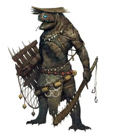 Fish Warrior, Ariel Perez on ArtStation at https://www.artstation.com/artwork/d9abx