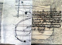 Superposition et alternance papier organdi