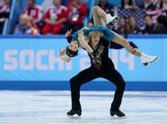 DAY 3:  Meryl Davis and Charlie White of the United States compete in the Team Ice Dance Free Dance
