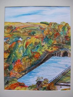 ORIGINAL Pen and Inks Painting Edgworth by carenscanvasandcraft