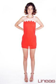 Vestido, modelo 16842. Precio $190 MXN #moda #Lineas #ropa #outfit #prendas #2014 #primavera #vestido