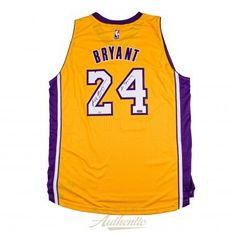 d21c3e4a4fa KOBE BRYANT Autographed Gold Lakers Swingman Jersey with