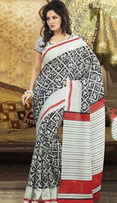 Buy Traditional Ethnic Black Art #SilkPrintedSaree Product code: KPS-37565 Price: INR 1270 (Unstitch Blouse), Color: Black      Shop Online now: http://www.efello.co/Saree_Traditional-Ethnic-Black-Art-Silk-Printed-Saree,-Sari_35744