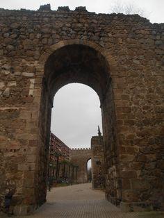 Sistema del Primer Recinto. Se ven las torres de la muralla y las albarranas