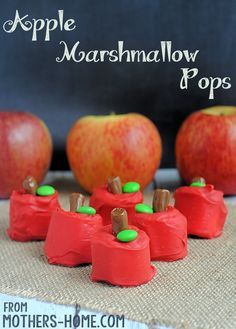 Apple Marshmallow Pops Recipe