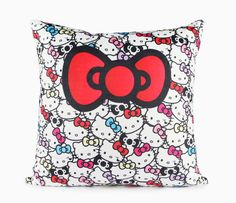 Add instant cuteness to your bedroom or living room decor with this adorable Hello Kitty throw cushion. You will be wowed by the softness of this fleece pillow!