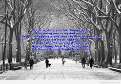 Snow walk Happy new year 2015 photo