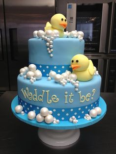 1000 Images About Gender Reveal Cakes On Pinterest