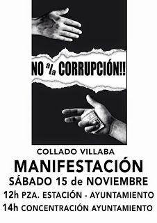 ECO-DIARIO-ALTERNATIVO: Collado Villalba: Manifestación anticorrupción