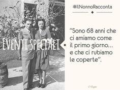 #IlNonnoRacconta: 68 anni di amore tra Fulvio Beo e la signora Rina. L'ingrediente segreto per far durare l'amore per così tanti anni? La semplicità. #TBT