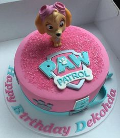 All paws on deck with these 21 Skye Paw Patrol Party Ideas! If your little one loves Paw Patrol and Skye, these party ideas are PAW-some for your party! Bolo Do Paw Patrol, Skye Paw Patrol Cake, Torta Paw Patrol, Girls Paw Patrol Cake, Girl Paw Patrol Party, Paw Patrol Cupcakes, Bday Girl, Birthday Cake Girls, Birthday Ideas