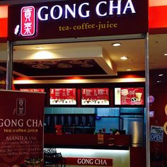 Coffee, milk, or tea -- anything that will tickle your taste buds! Gong Cha is now open at the level of SM City BF Paranaque. Coffee Milk, Taipei, Taste Buds, Manila, Broadway Shows, Tea, City, Food, Latte