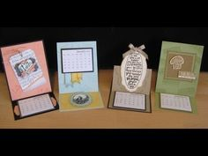 Easel Calendar, Greeting card frenchiestamps.com