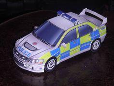 Gloucestershire Police Mitsubishi Lancer Evolution IX Paper Car Free Paper Model Download