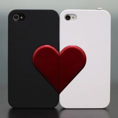 Lover Gift/iphone4/4s -Lover Couple Case with Hea ($10.45)