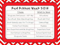 Red Ribbon Week...good ideas for next year
