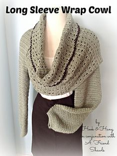 Ravelry: Long Sleeve Wrap Cowl pattern by Melissa R. M. Frank  $4.99 for pattern.