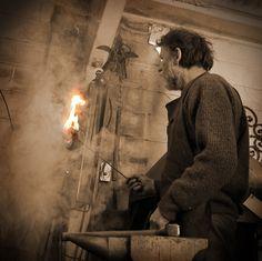 me( john) forging a flaming poppy