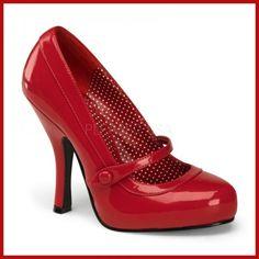 Escarpin rétro vernis rouge
