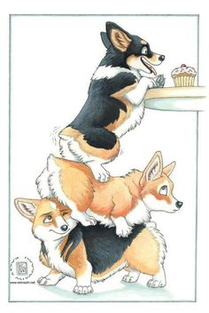 Want to discover art related to corgi? Check out inspiring examples of corgi artwork on DeviantArt, and get inspired by our community of talented artists. Cute Animal Drawings, Cute Drawings, Dog Drawings, Drawing Animals, Pencil Drawings, Animals Watercolor, Cute Puppies, Cute Dogs, Teacup Puppies