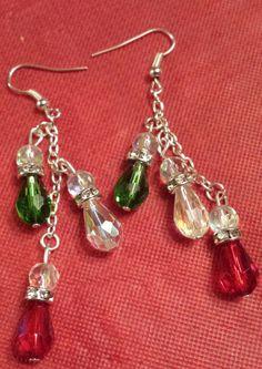 Prettiest Bling Bling Christmas Earrings Ever!