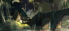 """""""Messy"""" sketch of a village bridge done by Victoria Ying. http://eca-la.com/blog/9/10/2013/village-bridge"""