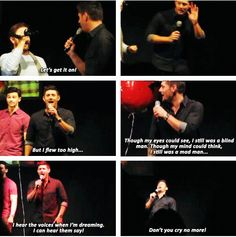 [SET OF GIFS] Jensen convention closing ceremony at JIB2013 singing along to Carry On Wayward Son