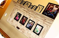 old door and crown molding, cool idea! Oh my, I think I have a door in mind!                                                                                                                                                      More