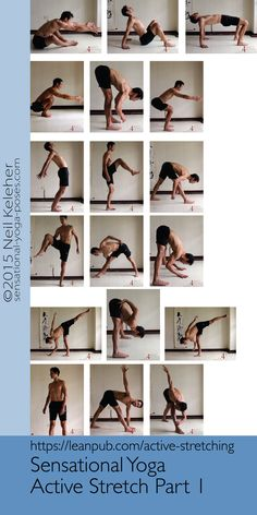 The first half of the yoga sequence from the Active Stretching ebook.  https://leanpub.com/active-stretching