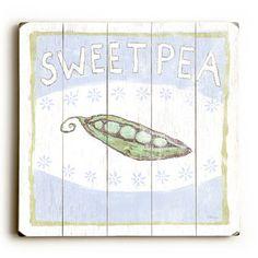 Baby Sweet Pea Wood Sign